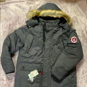 Spite men's sz large puffer bomber jacket NWT